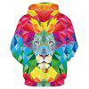 Colorful Lion Printing Cool Hoodie - COLORFUL