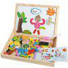 Kids Wooden Jigsaw Magnetic Board Pretend Play COLORMIX