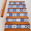 DSU LT030 Classical Pattern Decor Stairs Sticker 6pcs - MIX COLOR