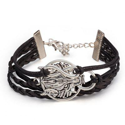 Bracelete Retro Multilayer Dragon Head Men