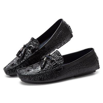 Male Trendy Soft Driving Leisure Flat LoaferFlats &amp; Loafers<br>Male Trendy Soft Driving Leisure Flat Loafer<br><br>Closure Type: Slip-On<br>Contents: 1 x Pair of Shoes<br>Materials: Rubber, Microfiber<br>Occasion: Shopping, Riding, Daily, Casual, Beach, Holiday<br>Outsole Material: Rubber<br>Package Size ( L x W x H ): 33.00 x 24.00 x 13.00 cm / 12.99 x 9.45 x 5.12 inches<br>Package Weights: 0.6kg<br>Seasons: Autumn,Spring<br>Style: Comfortable, Casual<br>Toe Shape: Round Toe<br>Type: Flat Shoes<br>Upper Material: Microfiber