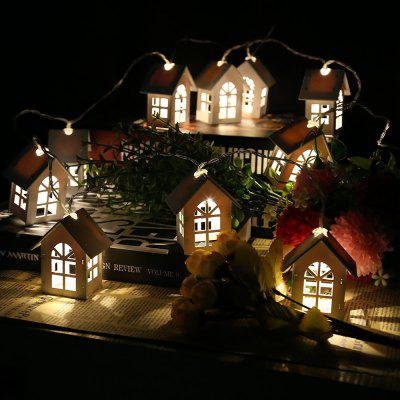 House Shaped LED String Lights for Decor 1.65M 10LEDs