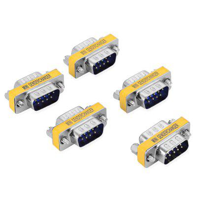 RS232 DB 9 9 - Pin Male to Male Changer Adapter 5PCS
