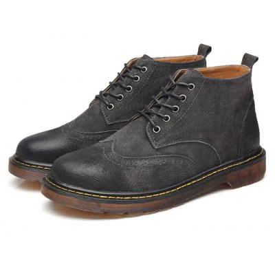 Male Stylish Breathable Soft Martin Ankle Boots