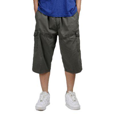 HYD1665 Large Size Thin Casual Capri Pants for Men