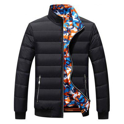 NIAN JEEP Men Reversible Stand-up Collar Winter Jacket