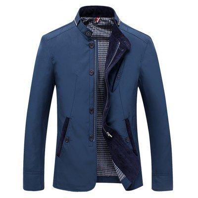 Slim Fit Stand Collar Jacket