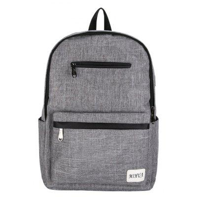 Men Leisure Canvas Mochila para laptop com porta USB