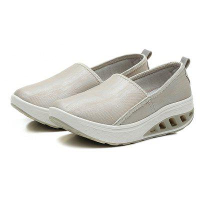 Feminino Único Soft Slip-on Slow-Soled Casual Loafer