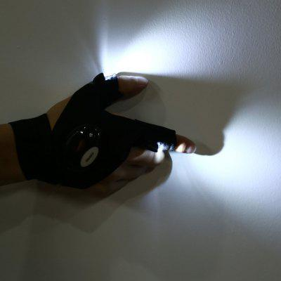 Finger Gloves LED Flashlights for Outdoor SportsNovelty lighting<br>Finger Gloves LED Flashlights for Outdoor Sports<br><br>Features: Waterproof<br>LED Quantity: 2<br>Material: Cotton, PP<br>Package Contents: 1 x Glove Flashlight<br>Package size (L x W x H): 10.50 x 3.00 x 15.50 cm / 4.13 x 1.18 x 6.1 inches<br>Package weight: 0.0220 kg<br>Power Source: Button Cell<br>Product size (L x W x H): 33.00 x 1.50 x 12.00 cm / 12.99 x 0.59 x 4.72 inches<br>Product weight: 0.0190 kg<br>Suitable for: Night Light