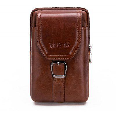 Retro Leather Cell Phone Waist Bag