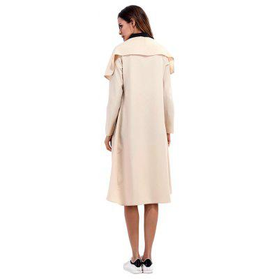 Solid Color Chic Irregular Collar TrenchJackets &amp; Coats<br>Solid Color Chic Irregular Collar Trench<br><br>Closure Type: Cover<br>Clothes Type: Trench Coat<br>Embellishment: Others<br>Materials: Polyester<br>Occasion: Work, Party, Holiday, Going Out, Daily Use<br>Package Content: 1 x Trench<br>Package Dimension: 25.00 x 14.00 x 1.00 cm / 9.84 x 5.51 x 0.39 inches<br>Package weight: 0.3900 kg<br>Pattern Type: Solid<br>Product weight: 0.3700 kg<br>Seasons: Winter<br>Shirt Length: Long<br>Sleeve Length: Long Sleeves<br>Style: Casual<br>Thickness: Thin
