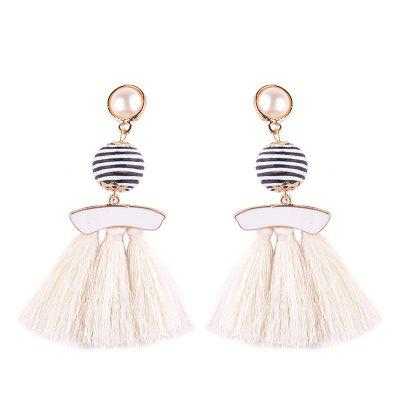 Mulheres Tassel Threader Drop Earrings
