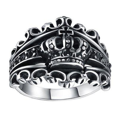 Retro Crown Titanium Steel Men Ring
