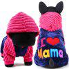 Cute Pet Costume Autumn Winter Dog Cat Party Outfit 1PC - ROSE RED