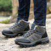 Male Outdoor Hiking Soft Warmest Athletic Shoes - BLACK GREY