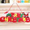 Christmas Door Hanger Creative Wall Hanging Ornament 1PC - COLORMIX