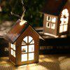 House Shaped LED String Lights for Decor 1.65M 10LEDs - WARM WHITE LIGHT