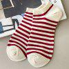 Breathable Striped Pattern Ankle Socks for Women - RED