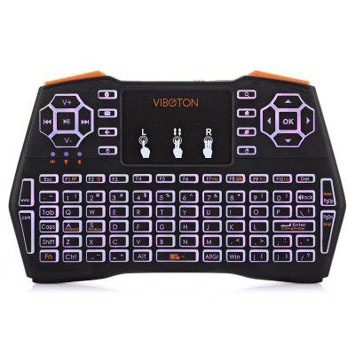 Viboton i8 Plus Mini Backlight Wireless Keyboard Touchpad MouseAir Mouse<br>Viboton i8 Plus Mini Backlight Wireless Keyboard Touchpad Mouse<br><br>Battery Capacity (mAh): 1020mAh<br>Brand: Viboton<br>Charging Time: 5 hours<br>Connection Type: 2.4GHz Wireless<br>Interface: Micro USB<br>Material: ABS<br>Model: i8 Plus<br>Package size: 19.30 x 11.00 x 3.00 cm / 7.6 x 4.33 x 1.18 inches<br>Package weight: 0.1470 kg<br>Packing List: 1 x Viboton i8 Plus Mini Keyboard, 1 x USB Cable, 1 x USB Receiver, 1 x English Manual<br>Powered by: Lithium-ion Battery<br>Product Features: Air Mouse, Ergonomic, Gaming, Remote Controller<br>Product size: 14.50 x 9.00 x 1.70 cm / 5.71 x 3.54 x 0.67 inches<br>Product weight: 0.1170 kg<br>Suitable for: Andriod TV Box, XBOX360, PS3, PC, iPod touch, HTPC, Android TV, Google TV Box