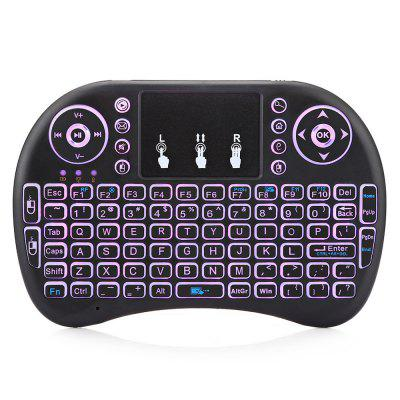Viboton i8 Mini Backlight Wireless Keyboard Touchpad MouseAir Mouse<br>Viboton i8 Mini Backlight Wireless Keyboard Touchpad Mouse<br><br>Battery Capacity (mAh): 1080mAh<br>Brand: Viboton<br>Charging Time: 5 hours<br>Connection Type: 2.4GHz Wireless<br>Interface: Micro USB<br>Model: i8<br>Package size: 18.80 x 11.00 x 2.80 cm / 7.4 x 4.33 x 1.1 inches<br>Package weight: 0.1580 kg<br>Packing List: 1 x Viboton i8 Wireless Keyboard, 1 x USB Cable, 1 x USB Receiver, 1 x English Manual<br>Powered by: Lithium-ion Battery<br>Product Features: Air Mouse, Ergonomic, Gaming, Remote Controller<br>Product size: 14.50 x 9.00 x 1.70 cm / 5.71 x 3.54 x 0.67 inches<br>Product weight: 0.1050 kg<br>Suitable for: Andriod TV Box, XBOX360, PS3, PC, iPod touch, Google TV Box, Android TV, HTPC