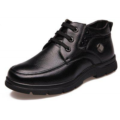 Buy BLACK 38 MUHUISEN Male Business Soft Casual Leather Shoes for $43.29 in GearBest store