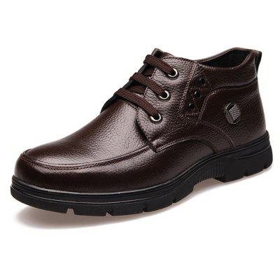 Buy BROWN 47 MUHUISEN Male Business Soft Casual Leather Shoes for $43.29 in GearBest store
