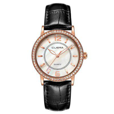 CUENA 6626 Exquisite PU Band Women Quartz Watch