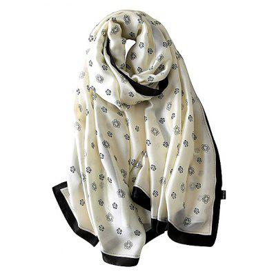Moda Rosa Padrão Printed Shawl Oversized for Women