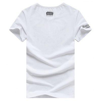 NIAN JEEP Casual Simple Cotton T-shirtMens Short Sleeve Tees<br>NIAN JEEP Casual Simple Cotton T-shirt<br><br>Material: Cotton, Spandex<br>Neckline: Round Neck<br>Package Content: 1 x T-shirt<br>Package size: 35.00 x 25.00 x 2.00 cm / 13.78 x 9.84 x 0.79 inches<br>Package weight: 0.4200 kg<br>Pattern Type: Letter<br>Product weight: 0.4000 kg<br>Season: Summer<br>Sleeve Length: Short Sleeves<br>Style: Casual