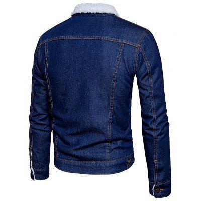 Fashion Denim Winter JacketMens Jackets &amp; Coats<br>Fashion Denim Winter Jacket<br><br>Closure Type: Single Breasted<br>Clothes Type: Denim Jacket<br>Collar: Turn-down Collar<br>Embellishment: Others<br>Materials: Cotton, Polyester<br>Occasion: Daily Use<br>Package Content: 1 x Winter Denim Jacket<br>Package Dimension: 40.00 x 30.00 x 4.00 cm / 15.75 x 11.81 x 1.57 inches<br>Package weight: 0.8200 kg<br>Pattern Type: Others<br>Product weight: 0.8000 kg<br>Seasons: Winter<br>Shirt Length: Regular<br>Sleeve Length: Long Sleeves<br>Style: Casual<br>Thickness: Thickening