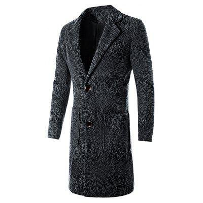 Casual Elegante Slim Fit Long Wool Coat