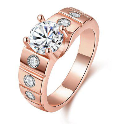 Buy ROSE GOLD 9 8MM Trendy Artificial Zircon Men Ring for $4.78 in GearBest store