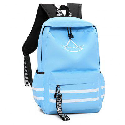 Simple Printed Nylon Sports BackpackBackpacks<br>Simple Printed Nylon Sports Backpack<br><br>Closure Type: Zip<br>Features: Water Bottle Pocket, Wearable<br>For: Daily Use, Traveling, Shopping, Outdoor, Climbing<br>Gender: Men<br>Material: Nylon<br>Package Size(L x W x H): 30.00 x 3.00 x 47.00 cm / 11.81 x 1.18 x 18.5 inches<br>Package weight: 0.3700 kg<br>Packing List: 1 x Backpack<br>Product weight: 0.3600 kg<br>Style: Casual<br>Type: Backpacks