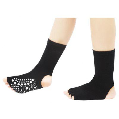 Yoga Toe Sports Heel Anti-slide Socks for WomenWomens Socks &amp; Hosieries<br>Yoga Toe Sports Heel Anti-slide Socks for Women<br><br>Contents: 1 x Pair of Socks<br>Gender: Women<br>Material: Cotton<br>Package size (L x W x H): 10.00 x 8.00 x 2.00 cm / 3.94 x 3.15 x 0.79 inches<br>Package weight: 0.0800 kg<br>Product weight: 0.0600 kg<br>Style: Casual<br>Type: Socks