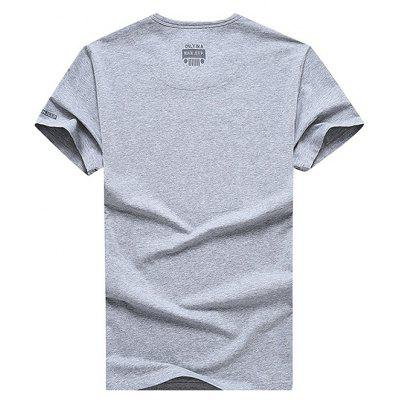 NIAN JEEP Casual Cotton T-shirtMens Short Sleeve Tees<br>NIAN JEEP Casual Cotton T-shirt<br><br>Material: Cotton, Spandex<br>Neckline: Round Neck<br>Package Content: 1 x T-shirt<br>Package size: 35.00 x 25.00 x 2.00 cm / 13.78 x 9.84 x 0.79 inches<br>Package weight: 0.4200 kg<br>Product weight: 0.4000 kg<br>Season: Summer<br>Sleeve Length: Short Sleeves<br>Style: Casual