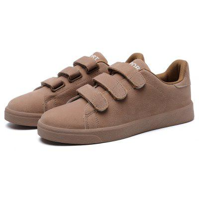 Masculino respirável Soft Magical-tape Casual Leather Shoes
