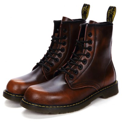 Feminino Vintage British High-top Casual Martin Boots