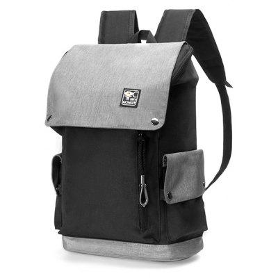 Buy Trendy Splicing Nylon Backpack with USB Port BLACK for $18.90 in GearBest store