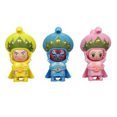 WUIBN Sichuan Opera Face Plastic Toy 1PC