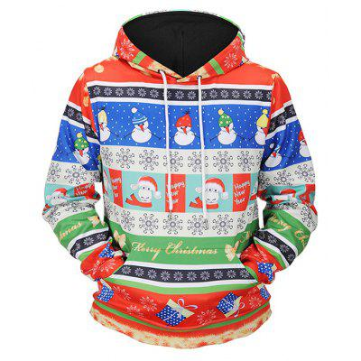 Mr.1991INC Miss.Go Snowmen 3D Printed Hoodie