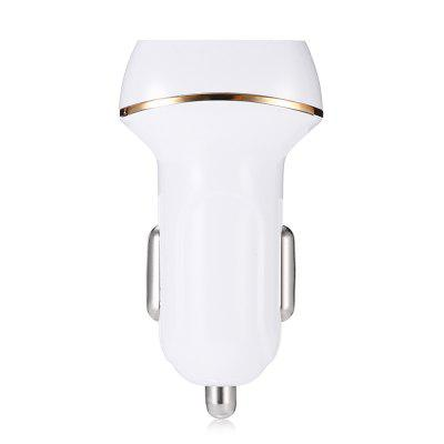 Quelima Flat Gourd Shape Dual USB Interfaces Car ChargerCar Charger<br>Quelima Flat Gourd Shape Dual USB Interfaces Car Charger<br><br>Apply to: iPhone 4/4s/iPod/iPad 2/The New iPad,iPhone 4/4s/iPod/iPad 2/The Nwe iPad,iPhone 5/5S,MP3,Phones<br>Brand: Quelima<br>Input ( Car Charger ): 12 - 24V<br>Material ( Cable&amp;Adapter): ABS<br>Output ( Car Charger ): 5V / 2.1A, 5V / 1A<br>Package Contents: 1 x Charger<br>Package size (L x W x H): 8.00 x 5.00 x 3.00 cm / 3.15 x 1.97 x 1.18 inches<br>Package weight: 0.2200 kg<br>Product size (L x W x H): 6.00 x 1.00 x 2.00 cm / 2.36 x 0.39 x 0.79 inches<br>Product weight: 0.1900 kg<br>Working Temp.(?): -10 - 60 Deg.C