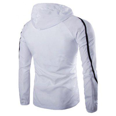 Male Pure Color Simple Zip up Hooded Slim JacketMens Jackets &amp; Coats<br>Male Pure Color Simple Zip up Hooded Slim Jacket<br><br>Closure Type: Zipper<br>Clothes Type: Jackets<br>Collar: Hooded<br>Embellishment: Others<br>Materials: Cotton, Cotton Blend<br>Occasion: Daily Use<br>Package Content: 1 x Jacket<br>Package Dimension: 35.00 x 25.00 x 2.00 cm / 13.78 x 9.84 x 0.79 inches<br>Package weight: 0.2700 kg<br>Pattern Type: Solid<br>Product weight: 0.2500 kg<br>Seasons: Autumn<br>Shirt Length: Regular<br>Sleeve Length: Long Sleeves<br>Style: Casual, Fashion<br>Thickness: Thin