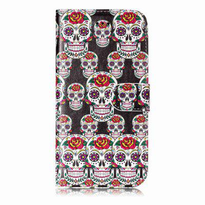 Shatter-proof Skull Pattern Stand Case para iPhone X