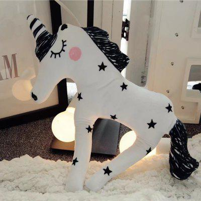 Cartoon Unicorn Style Short Plush Doll