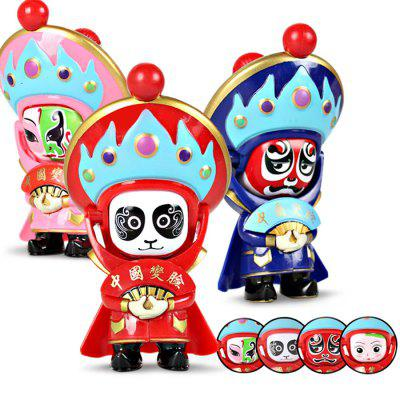 WUIBN Chinese Sichuan Opera Face-changing Doll Key Chain 1pc