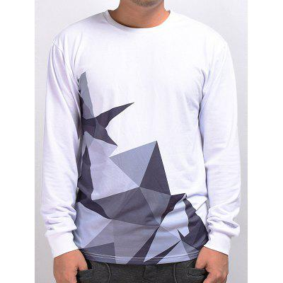 Mr.1991INC Miss.GO Unique Geometric Printing T-shirt for Men