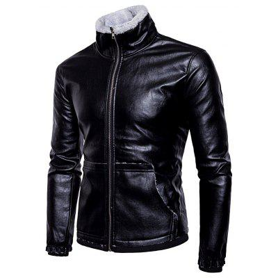 Fashion Lamb Wool Leather Winter Jacket