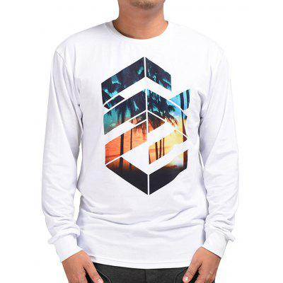 Mr.1991INC Miss.GO Geometric Printing T-shirt for Men