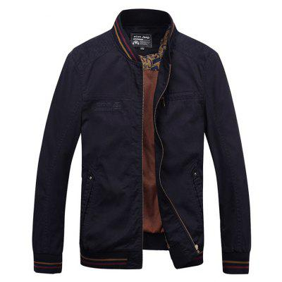NIAN JEEP Trendy Stand-up Collar Slim Jacket para homens